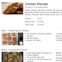 Chicken Marsala Recipe on Rouxbe Screenshot