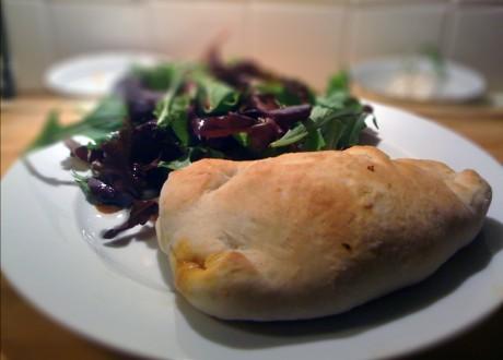 Chorizo, Basil & Mushroom Calzone