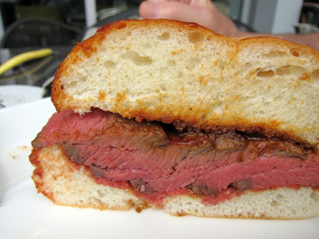 BBQ Tri Tip Sandwich
