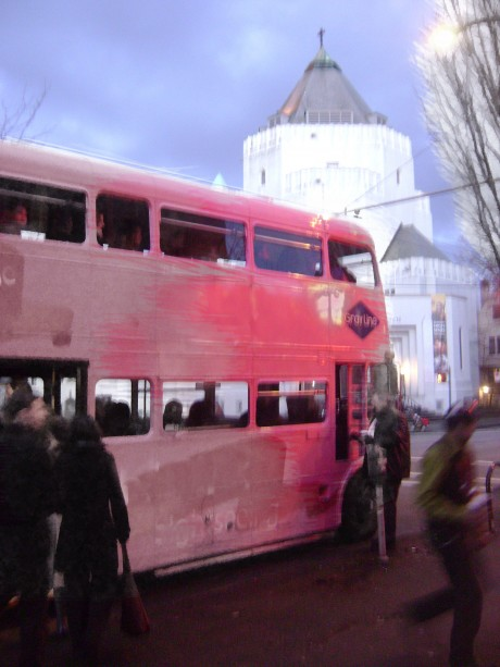 Pink Double Decker Bus