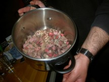 The making of mageritsa, the Greek Easter soup.