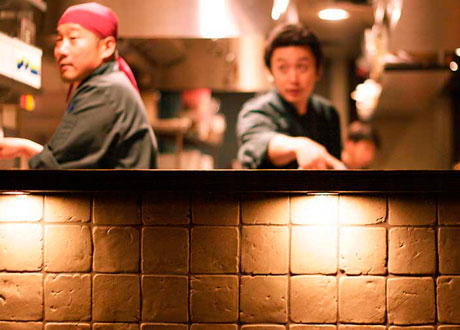 The Chefs in the Kitchen at Hapa Izakaya on Robson