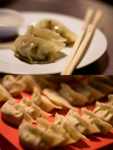 Jiaozi with Chinese black truffles from South China Seas