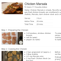 Chicken Marsala Recipe on Rouxbe Screenshot