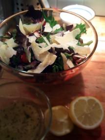 Fennel, Beet & Parmesan salad.