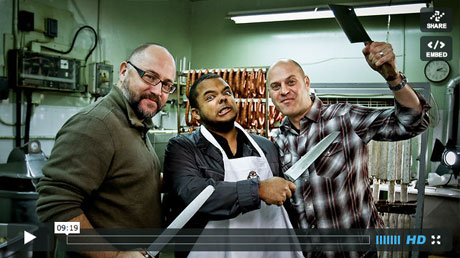 Roger Mooking with Foodists at D-Original Sausage